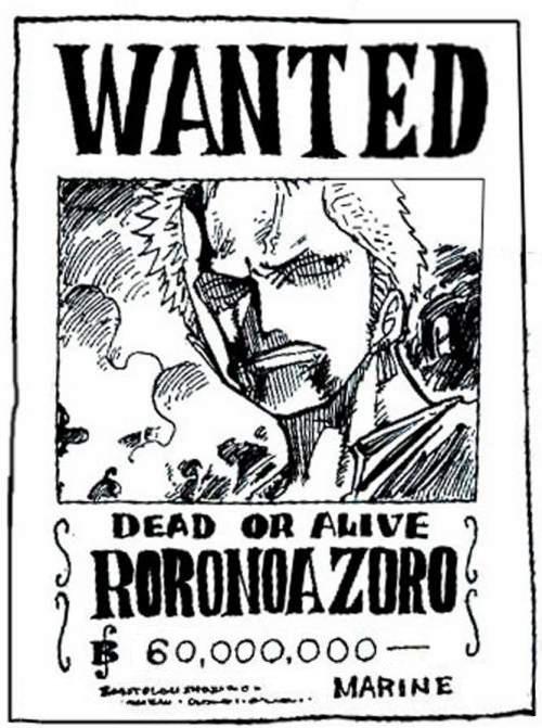 One piece la volont du d wanted - Zoro one piece dessin ...